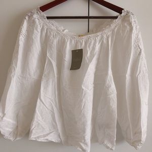 Anthropologie bubble sleeves Blouse Size XS